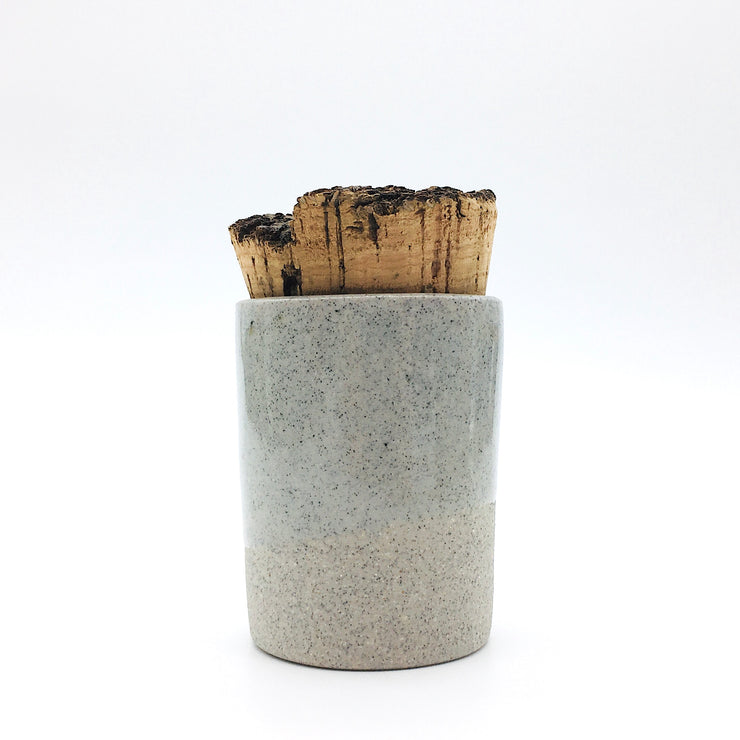 Canister w/ Bark Top | 2 oz | Greystone/Clear Sky
