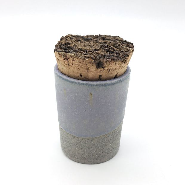 Canister w/ Bark Top | 2 oz | Greystone/Lavender