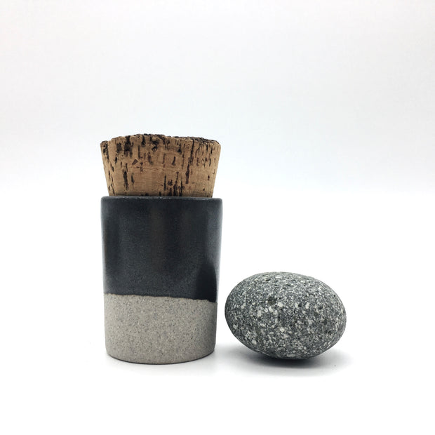 Canister w/ Bark Top | 2 oz | Greystone/Matte Black