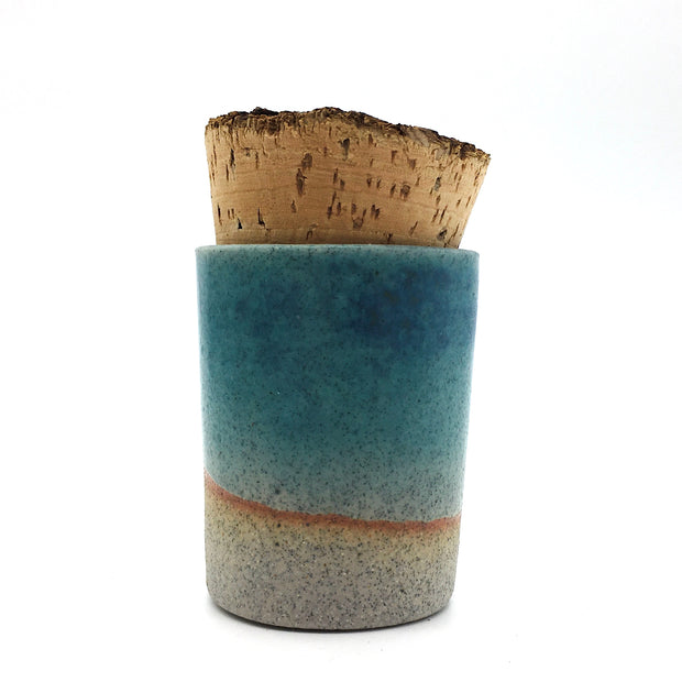 Canister w/ Bark Top | 2 oz | Greystone/Navajo Blue (NOT FOOD SAFE)