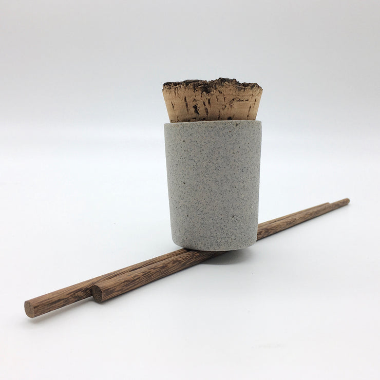Canister w/ Bark Top | 2 oz | Greystone/Raw