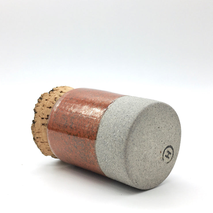 Canister w/ Bark Top | 2 oz | Greystone/Rust