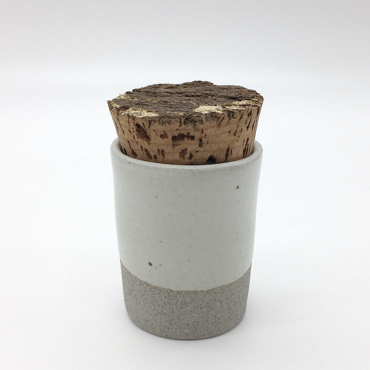 Canister w/ Bark Top | 2 oz | Greystone/Snow White