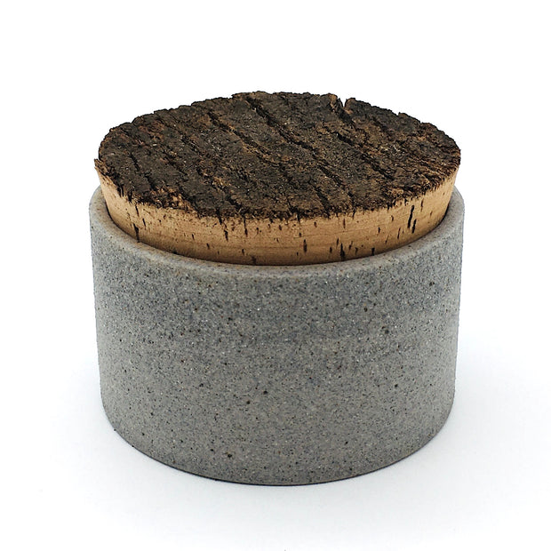 "Canister w/ Bark Top | 3.5"" x 2"" 