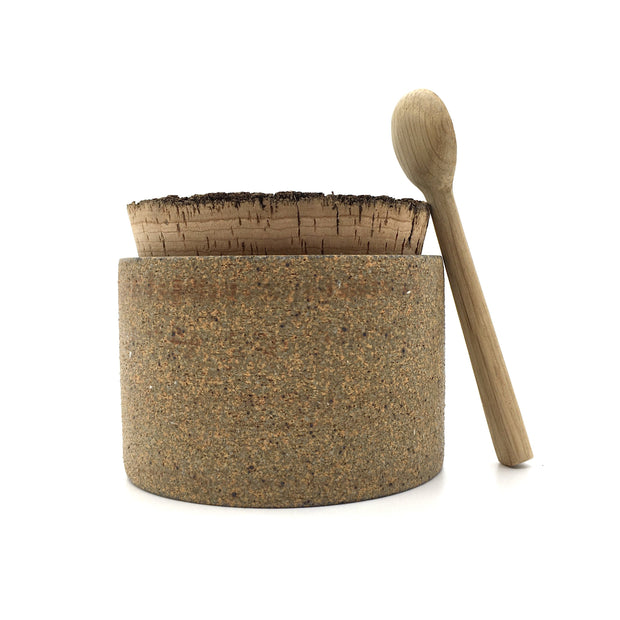 "CAN3525-S-RAW-BT | Canister w/ Bark Top | 3.5"" x 2.5"" 