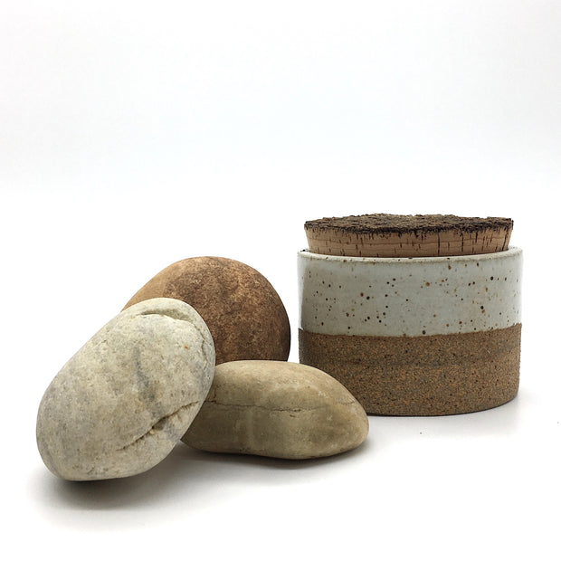 "CAN3525-S-S-BT | Canister w/ Bark Top | 3.5"" x 2.5"" H 