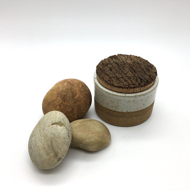 "Canister w/ Bark Top | 3.5"" x 2.5"" 
