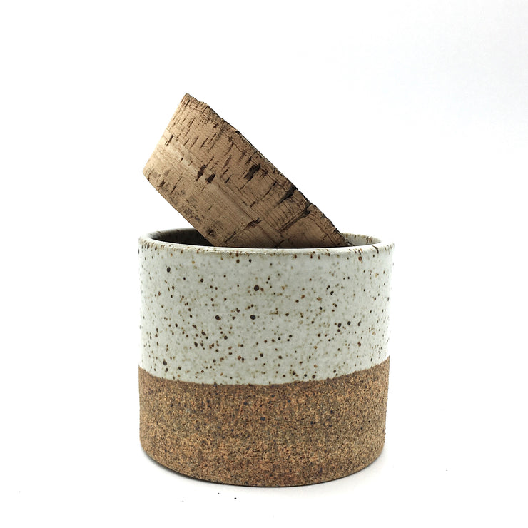 "Canister w/ Bark Top | 3.5"" x 3"" 