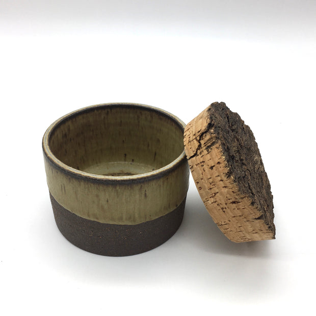 "Canister w/ Bark Top | 4.5"" x 3"" 