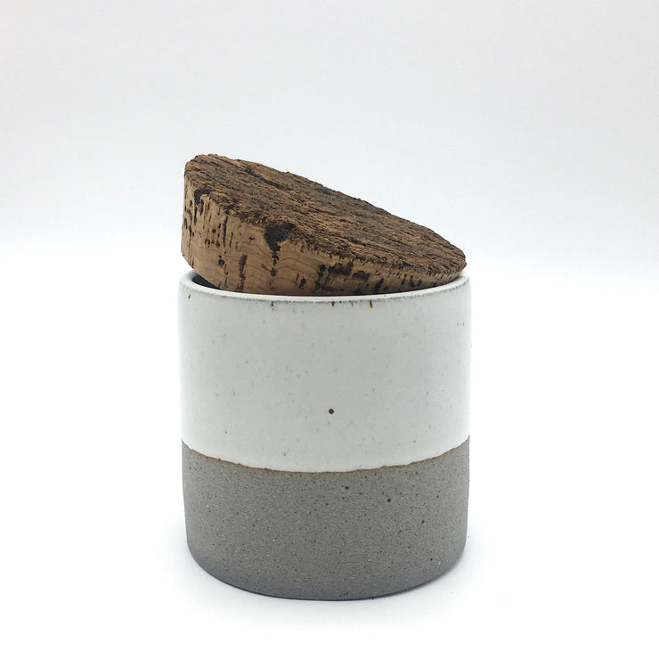 "Canister w/ Bark Top | 4.5"" x 4.5"" 