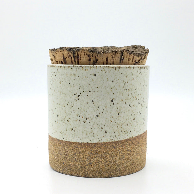 "CAN4545-S-S-BT | Canister w/ Bark Top Cork | 4.5"" x 4.5"" 
