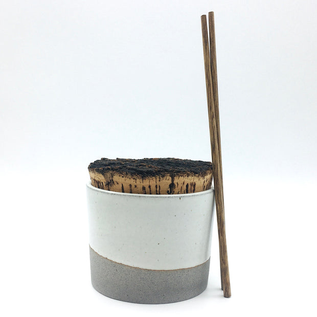 "Canister w/ Bark Top | 5"" x 4"" 