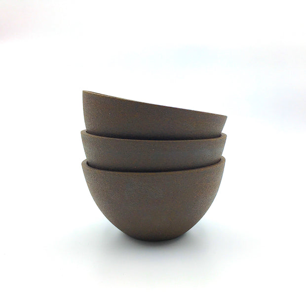 EB1-B-D | Enoki Bowl | Stillness Collection | Brownstone/Danish Pine | Humble Ceramics |