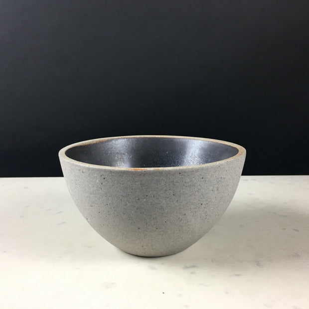 EB1-G-MB | Enoki Bowl | Stillness Collection | Greystone/Matte Black | Humble Ceramics |
