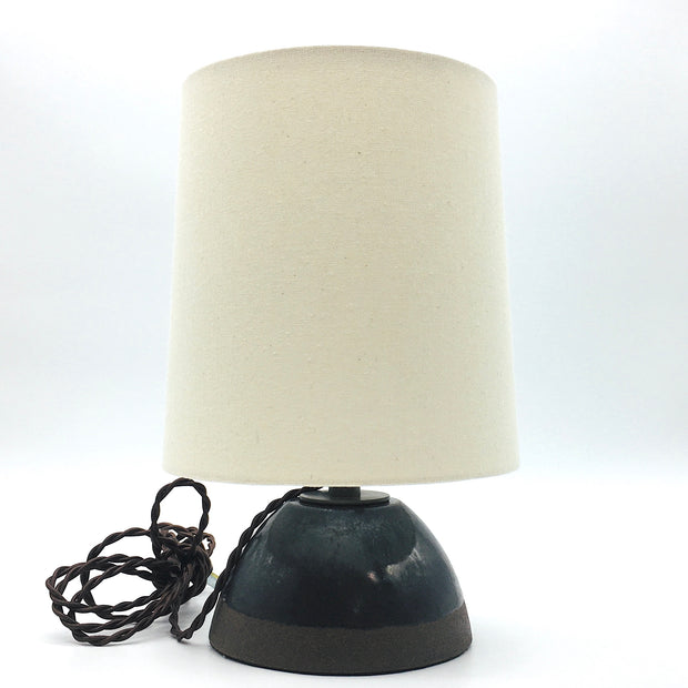 Enoki Lamp Base | Brownstone/Midnight Glow | Dark Bronze