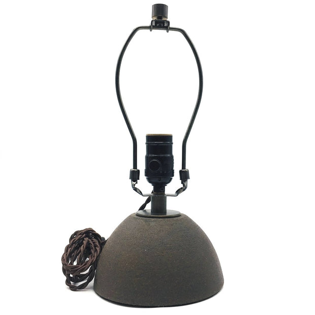 Enoki Lamp Base | Brownstone/Raw | Dark Bronze