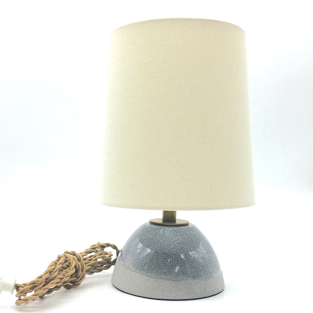 Enoki Lamp Base | Greystone/Mojave Crackle | Medium Brass
