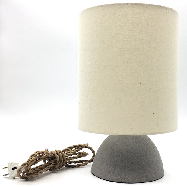 Enoki Lamp Base | Greystone/Raw | Medium Brass