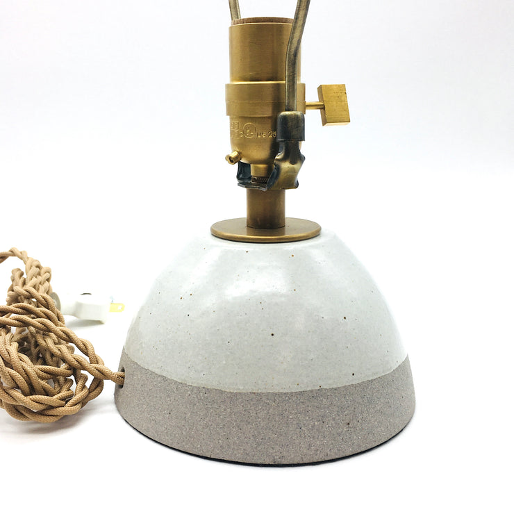 Enoki Lamp Base | Greystone/Snow | Medium Brass