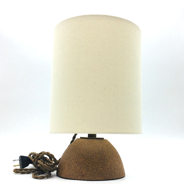 Enoki Lamp Base | Sandstone/Raw | Dark Bronze