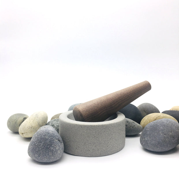 "EM452-G + MDP6-WN | Essi Mortar + Mudra Pestle | 4.5"" x 2"" 