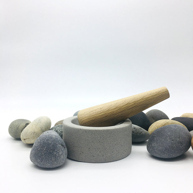 "EM452-G + MDP6-WO | Essi Mortar + Mudra Pestle | 4.5"" x 2"" 