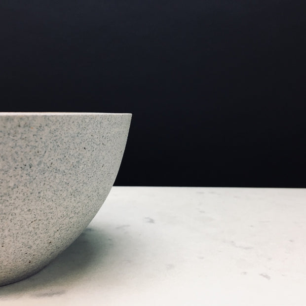 Humble Ceramics | Stillness Collection | Enoki Bowl | EB1-G-S | Greystone/Snow White |
