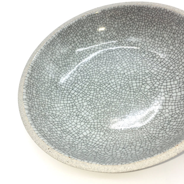 STB85-G-MC | Stillness Bowl | Stillness Collection | Greystone/Mojave Crackle | Humble Ceramics |