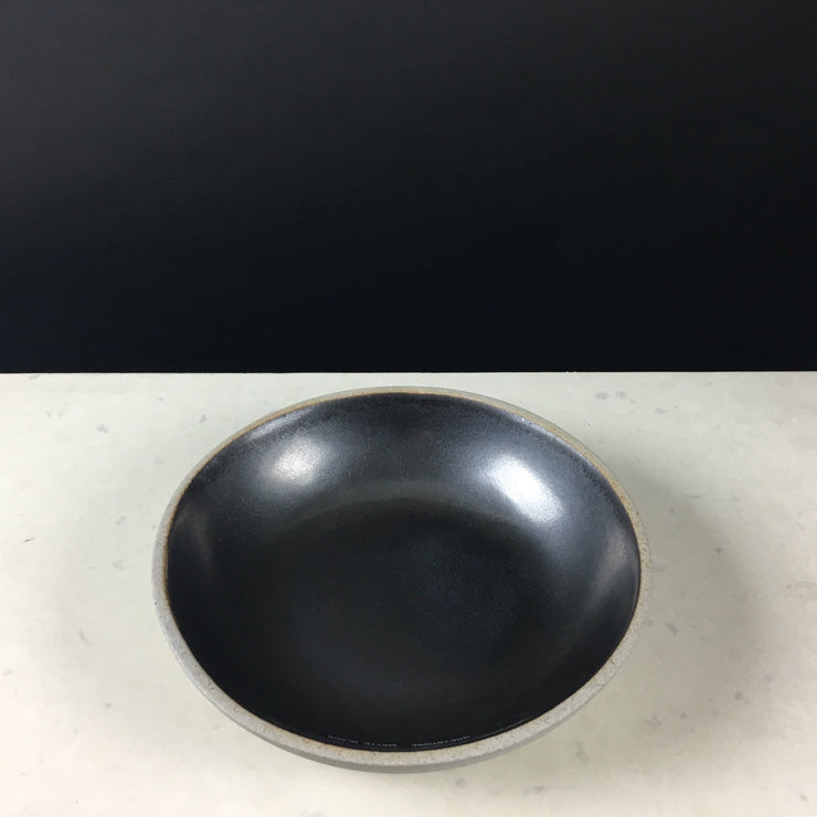 STB85-G-MB | Stillness Bowl | Stillness Collection | Greystone/Matte Black | Humble Ceramics |