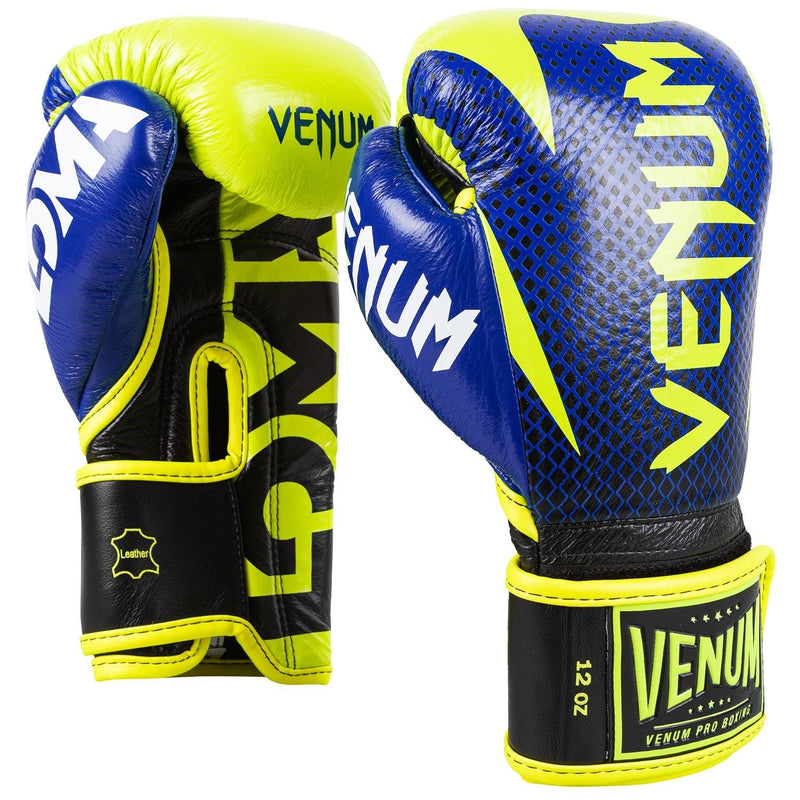 Venum Hammer Pro Boxing Gloves Loma Edition- Velcro – Blue/Yellow picture 1