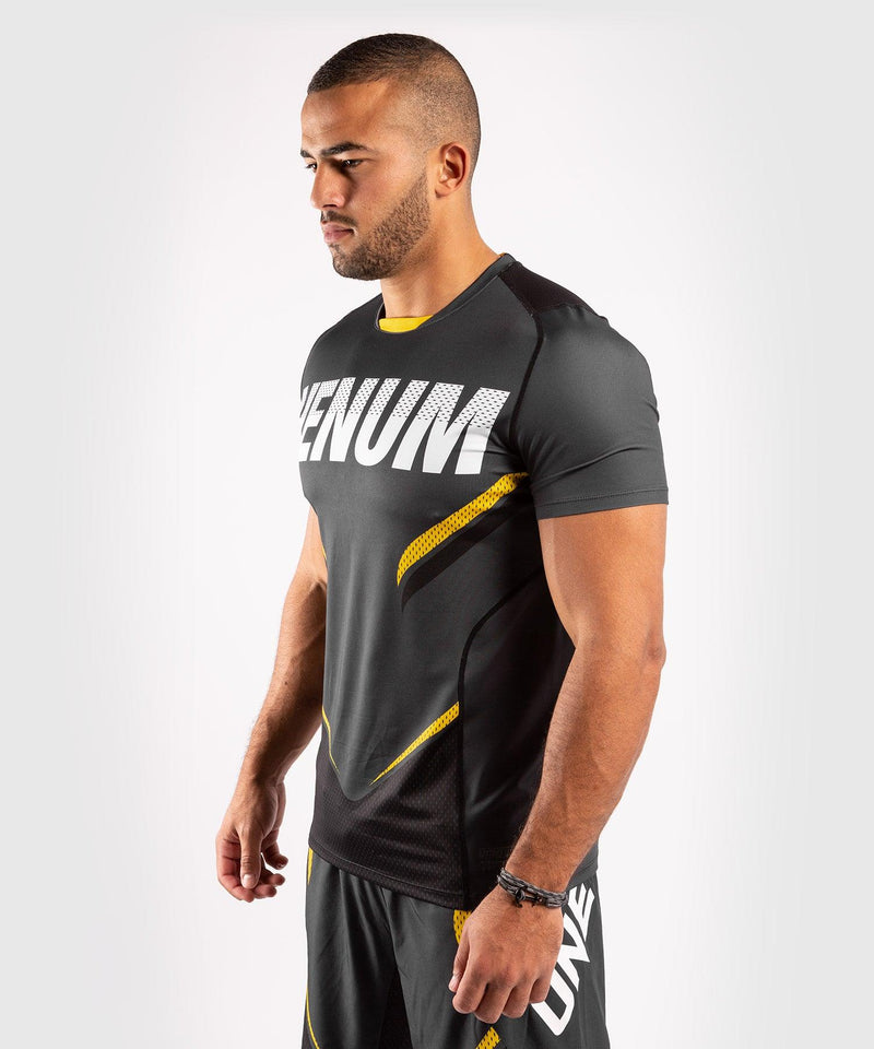 Venum ONE FC Impact Dry Tech T-Shirt - Grey/Yellow - picture 3