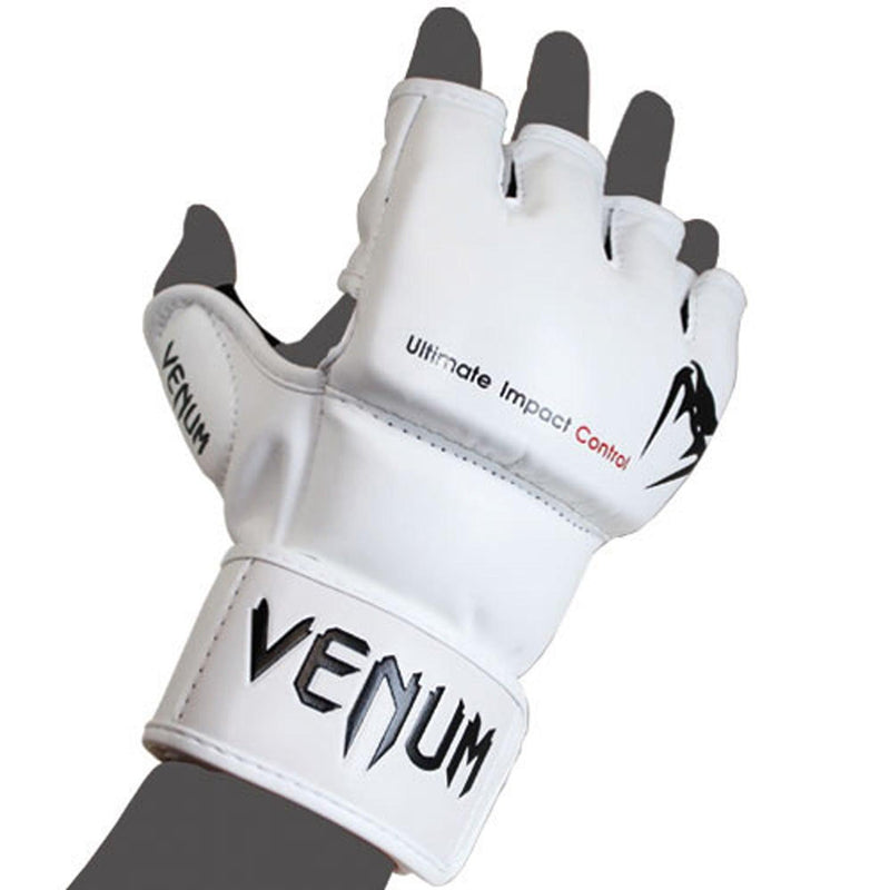 Venum Impact MMA Gloves - Skintex Leather – White picture 2