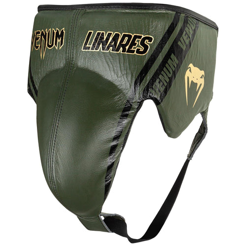 Venum Pro Boxing Protective Cup Linares Edition - With Laces – Khaki/Black/Gold picture 2