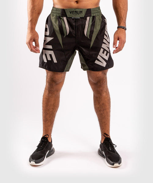 Venum ONE FC Impact Fightshorts - Black/Khaki - picture 1