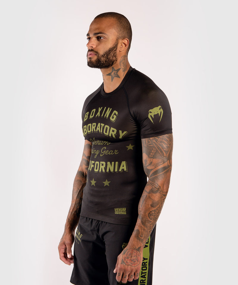 Venum Boxing Lab Rashguard - Short sleeves - Black/Green picture 3