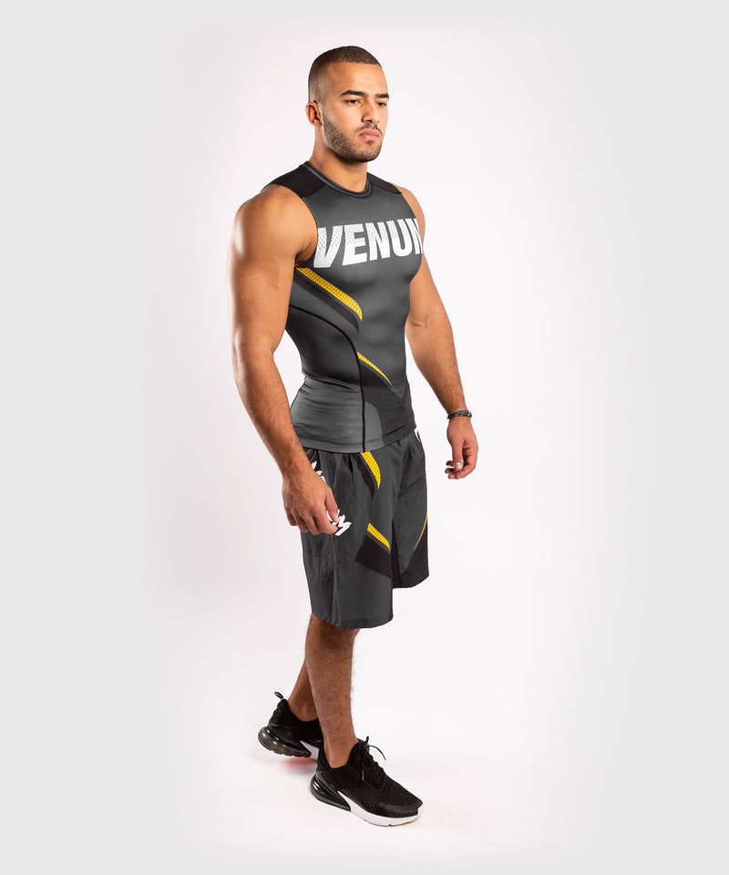 Venum ONE FC Impact Rashguard - sleeveless - Grey/Yellow - picture 8