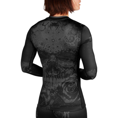 Venum Santa Muerte 3.0 Rashguard - Long Sleeves - For Women – Black/Black picture 3