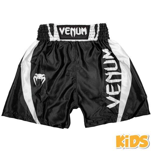 Venum Elite Kids Boxing Shorts – Black/White picture 1