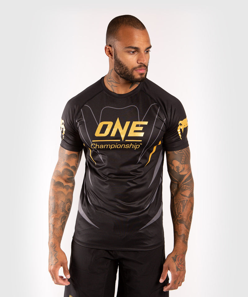 Venum x ONE FC Dry Tech T-shirt - Black/Gold picture 1