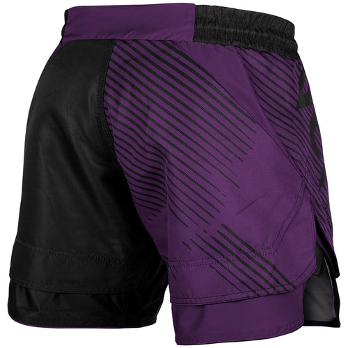 Venum NoGi 2.0 Fightshorts – Black/Purple picture 2
