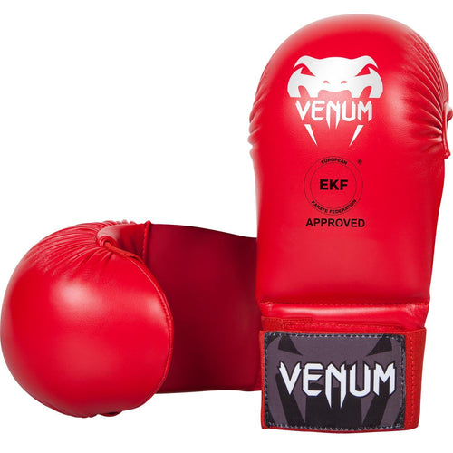Venum Karate Mitts - Without Thumb Protection - Red - Approved by EKF picture 1