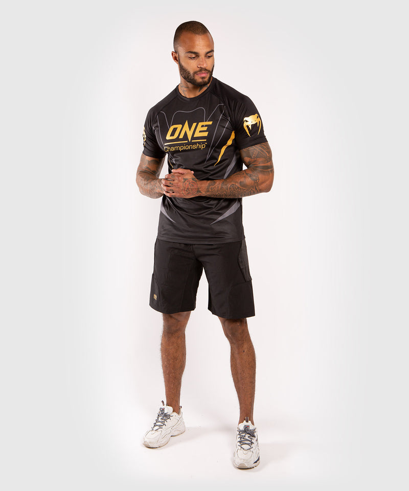 Venum x ONE FC Dry Tech T-shirt - Black/Gold picture 7