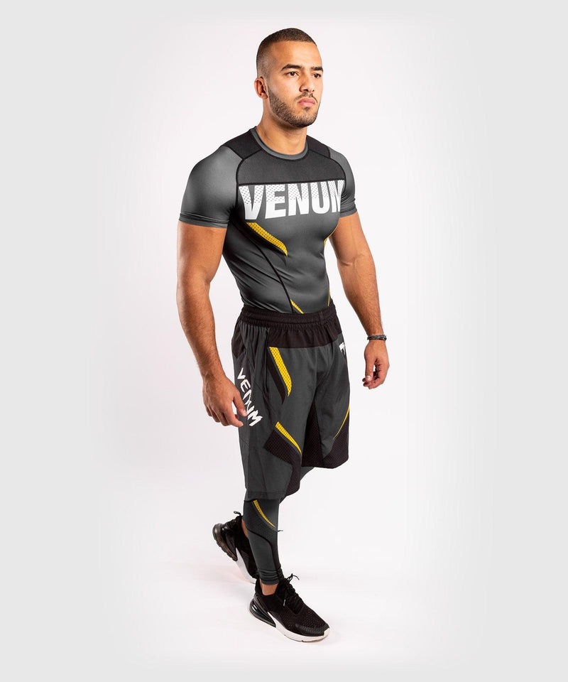 Venum ONE FC Impact Compresssion Tights - Grey/Yellow - picture 9