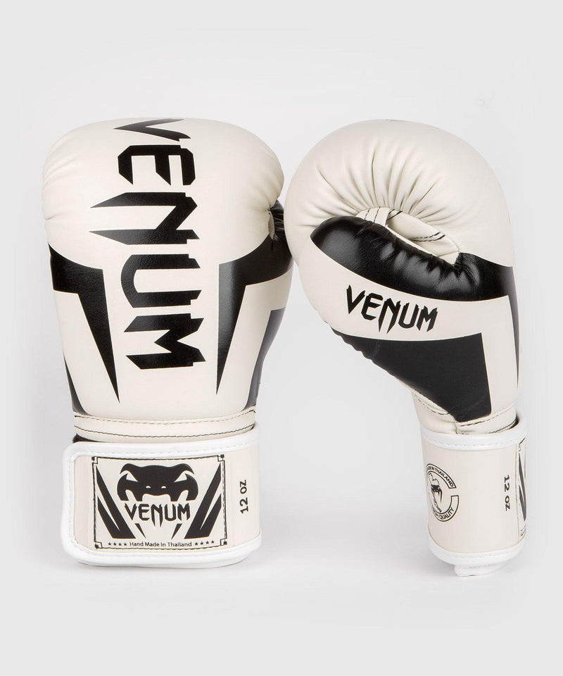 Venum Elite Boxing Gloves – White/Black picture 2