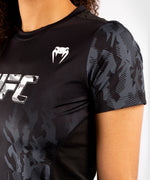 UFC Venum Authentic Fight Week Women's Performance Short Sleeve T-shirt – Black Picture 4