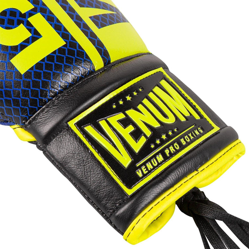 Venum Shield Pro Boxing Gloves Loma Edition - With Laces – Blue/Yellow picture 3