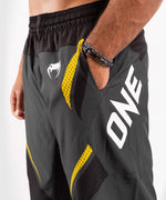 Venum ONE FC Impact Training shorts - Grey/Yellow - picture 6