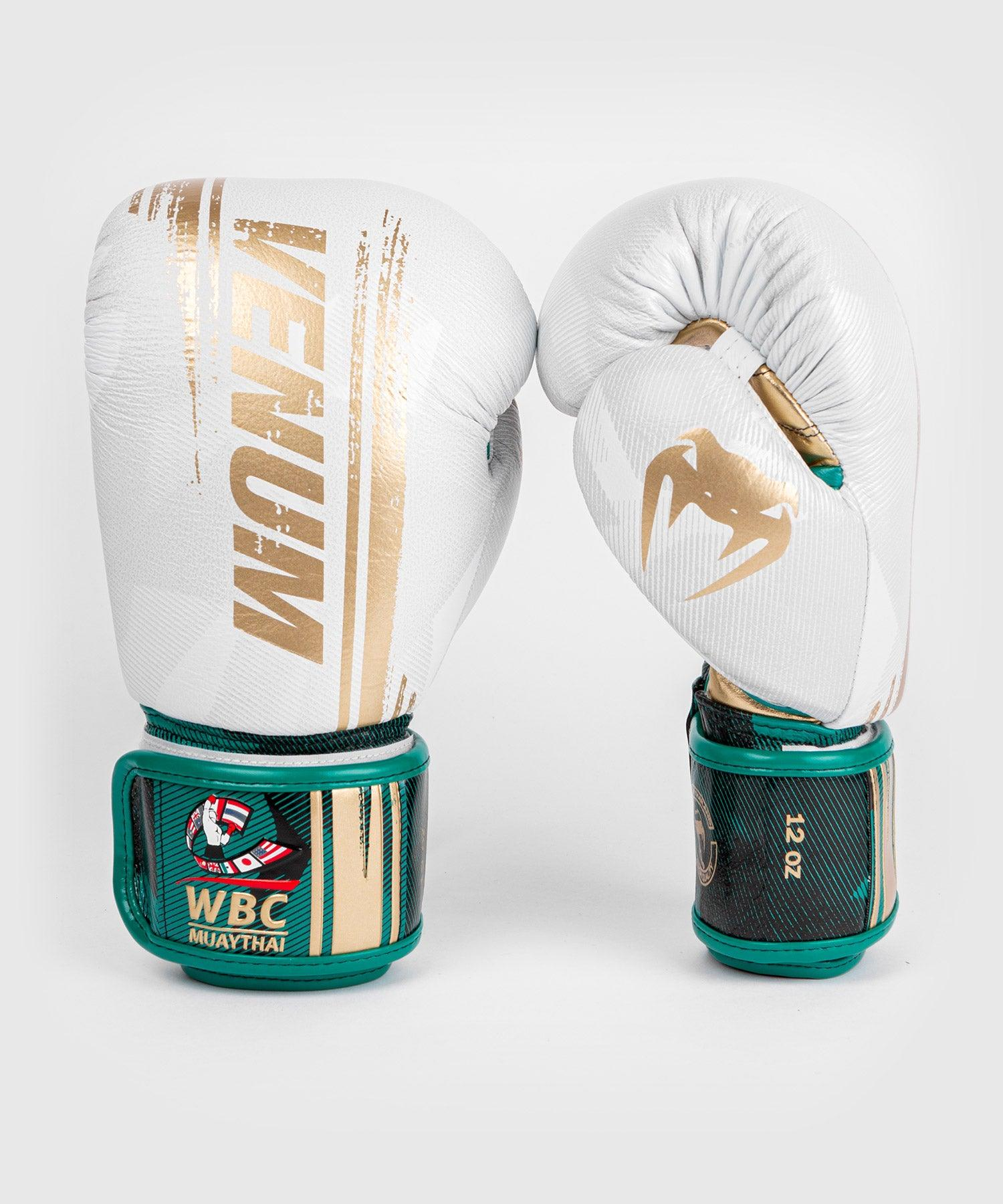 Venum WBC Muay Thai Boxing Gloves - White/Green - Picture 1