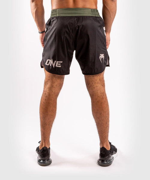 Venum ONE FC Impact Fightshorts - Black/Khaki - picture 2