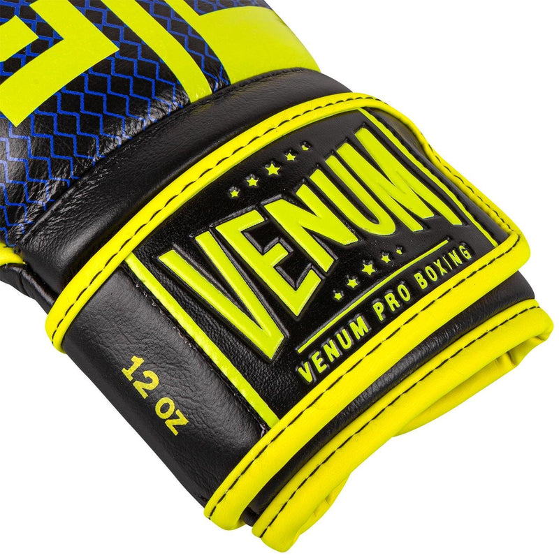 Venum Shield Pro Boxing Gloves Loma Edition - Velcro – Blue/Yellow picture 3